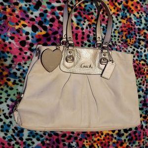 Coach Cream Color Hand Bag
